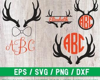 Deer svg, Deer Cut file, Deer Monogram, Deer Silhouette, Deer Cricut,  Deer cutting file, Deer bow tie svg, Deer vector, Deer digital