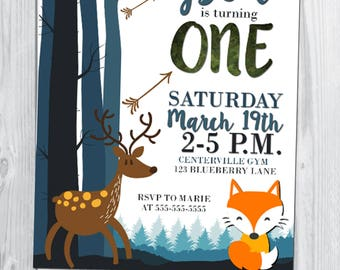 Woodland Forest Birthday Invitation