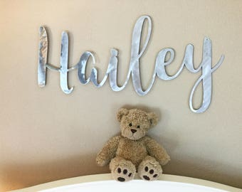 Custom Name Sign, Name Sign, Nursery Name, Nursery Name Sign, Baby Name, Nursery Name Art, Names Sign, Nursery Decor, Metal Sign, Name Sign