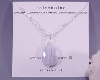 Star chalcedony necklace