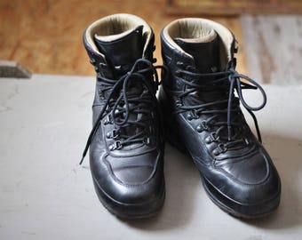 Black shoes Sport, mountains, walk hiking adventure, casual look, leather shoes, sports Raichle