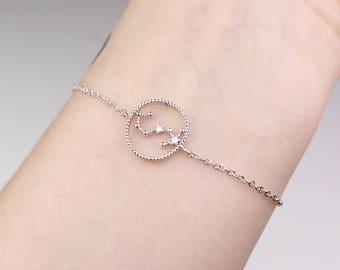 Scorpio constellation, Scorpio jewelry, horoscope bracelet, Scorpio bracelet, zodiac bracelet, constellation, bracelet, horoscope jewelry