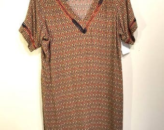Vintage 80's Geometric Dress/Tunic