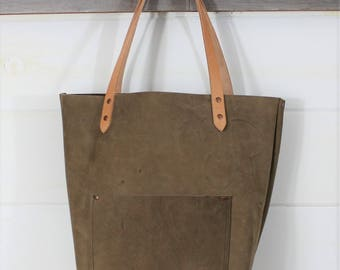 Branded Leather Tote