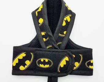 BATMAN PREMIUM Cat Harness  / Your Choice border Color/ Walking Butterfly Vest / Ultra Light Design/ Sphynx Cat Clothes & all breeds