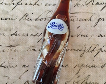 Cute Vintage Glass Miniature Pepsi Cola Bottle With Pepsi Still Inside