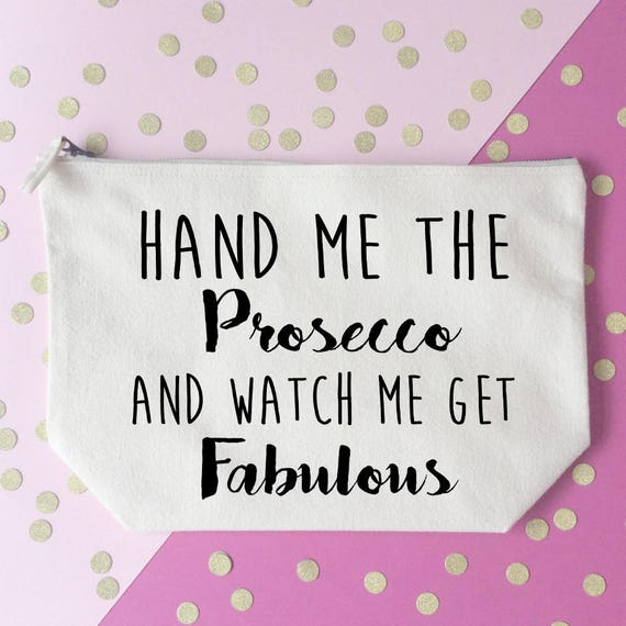 Rude Mr And Mrs Questions: Prosecco Makeup Bag Cosmetic Bag Unique Gift Toiletry Bag