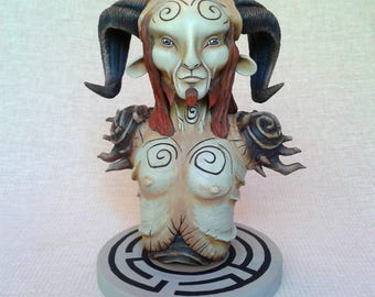 Faun bust from  El laberinto del fauno / Pan's Labyrinth Faun figurine Pan figure