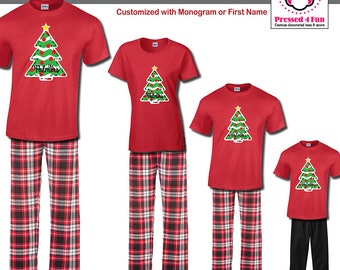 Holiday Pajamas & Youth Loungewear Whimsical Tree Design | Family Matching Christmas Pajamas | Christmas Pajamas | Best Selling Item