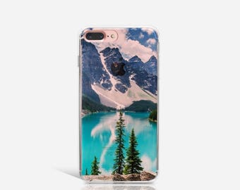 Mountain iPhone 7 Case Clear iPhone Case iPhone 7 Plus Case iPhone 6 Case For iPhone 6S Case Birthday Gift For Her iPhone Phone Cover -KT068