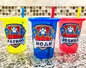 Paw Patrol Party Favors Personalized Cups - Set of 3