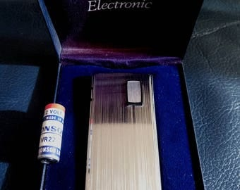 RONSON VARAFLAME ELECTRONIC Pocket Gas Lighter, Vintage Ronson Varaflame Gas Lighter, Ronson Varaflame Electric Gas, Vintage Lighter, Ronson
