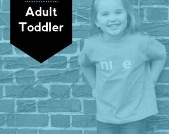 Adult + Toddler Set, FREE SHIPPING - Nice Minnesota Shirt, State Shirt, Minnesota Shirt, Minnesota T-shirt