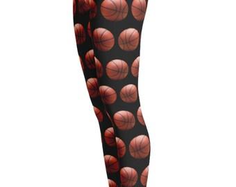 Basketball Leggings - Basketball print Leggings - Basketball Costume - Sport Leggings - NBL leggings - Christmas Gift - Christmas Leggings