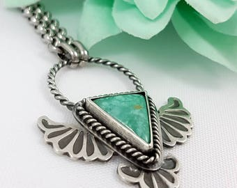 LaoOne * sterling silver necklace * flying turquoise