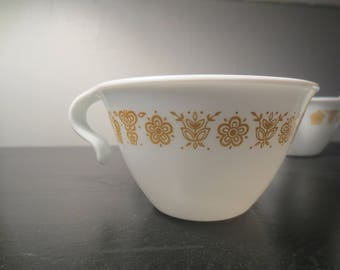 Corelle Corning Ware Butterfly Gold Tea Cups
