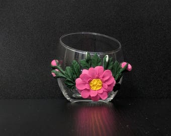 askew candle holders (pink)