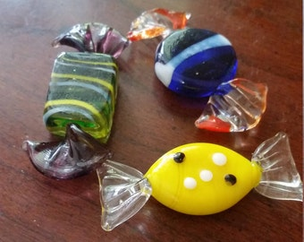 Vintage Hand Blown Glass Candy.