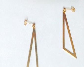 GEO dangling golden earrings