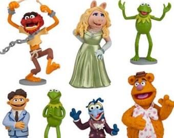 The Muppets Cake Topper Kermit Miss Piggy Fozzie Walter Animal Gonzo Figure Wedding
