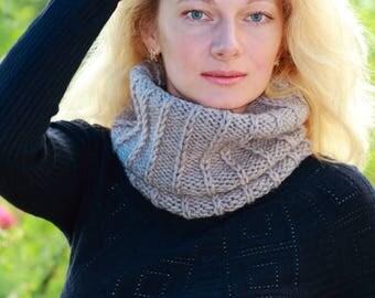 Knit neck warmer beige neck warmer mens neck warmer womens neck warmer crochet neck warmer scarf crochet neckwarmer knit neckwarmer gaiter