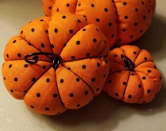 Trio of Pumpkins- Polka Dots