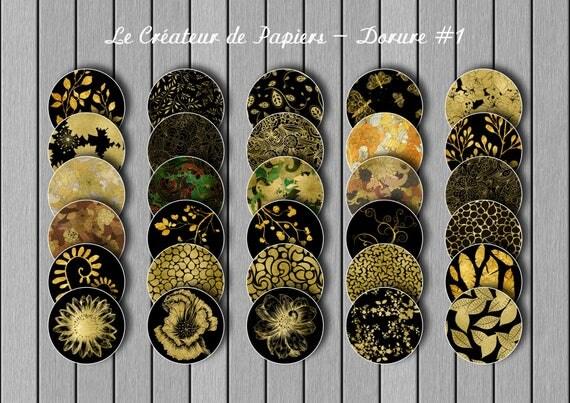 """Dorure#1, images digitales: 30 motifs différents issus de la collection """"Prestige"""","""