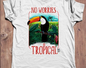 Tropical Toucan | men tshirt for summer holidays