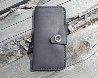 Leather Wallet Personalized Wallet Mens Wallet Womens Wallet Travel Wallet Black Wallet Slim Wallet Engraved Wallet for Him Long Wallet