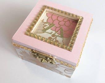 Any Sorority Golden Opulence: Sorority pin box, Handmade, Choose any Sorority