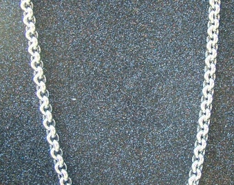 White gold thick belcher chain-18 carat white gold chain 45 cms long-almost 17 grams of gold.