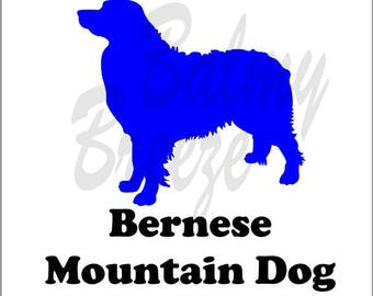 DN - 3 Bernese Mountain Dog Vinyl Decal