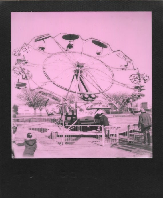 set of four : mall carnival in monochrome