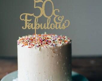50 cake topper Etsy