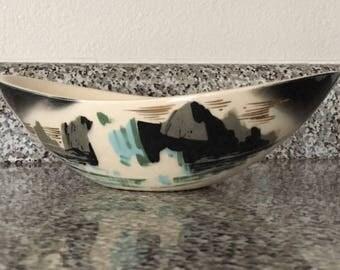 """Mid Century Matthew Adams """"Glacier"""" Pottery Bowl"""