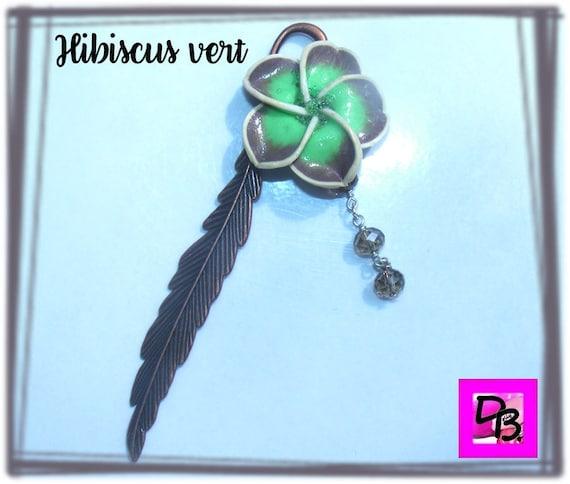 Marque-pages [Hibiscus vert jade]