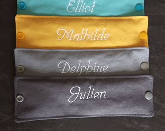 personalized name double quilted snap napkin