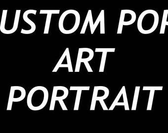 Custom Pop-Art Portrait Canvas Painting