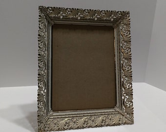 vintage metal open lace filigree french patina 8 x 10 picture frames - Etsy Picture Frames