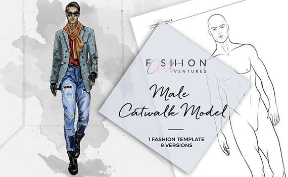Male catwalk model printable fashion template fashion male catwalk model printable fashion template fashion illustration croquis fashion drawing fashion model template pronofoot35fo Gallery