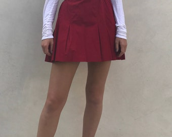 Vintage Red Tennis Skirt