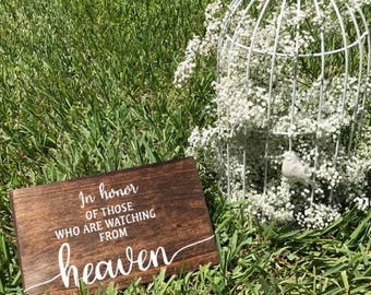 In Loving Memory Sign We Know You Would Be Here Today If Heaven Wasn't So Far Away Sign Wedding Memorial Sign Remembrance Sign Ceremony Sign