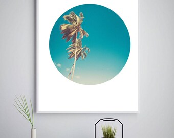 Palm Tree Print, Palm Trees Decor, Palm Trees Wall Art, Tropical Decor, Beach Decor, Coastal Art, Ocean Print, Beach Print, Palm Tree Decor