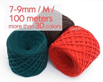T-shirt yarn 100m / M yarn / Spaghetti yarn Quality fabric yarn 100% cotton yarn Bulky yarn Solid color t-shirt yarn / 100 m (109.4 yrds)