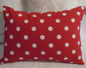 RED.Chevron. Polka Dots.Holiday pillow cover.Pillow Cover.Red,White.Holiday Decor.Nursery.Slipcovers.Home Decor.