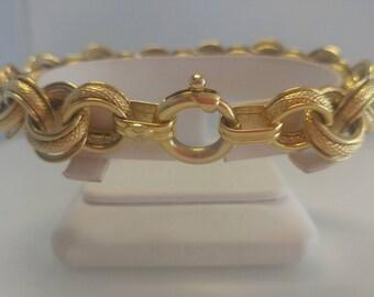 14k Cable Link Bracelet