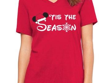 Disney Shirts Disney Christmas Shirts Tis the Season DisneyLand Shirt Disney World Shirt Magic Kingdom Shirt Disney Cruise Shirt