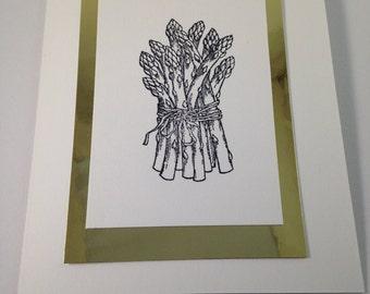 Asparagus Note Card