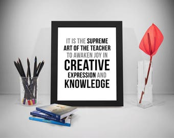 Teacher Quotes, Creative Sayings, Classroom Decor, Knowledge Prints, Education Saying, Knowledge Quote