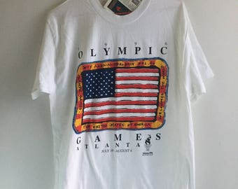 1996 Atlanta Games T-Shirt - Tags On Vintage